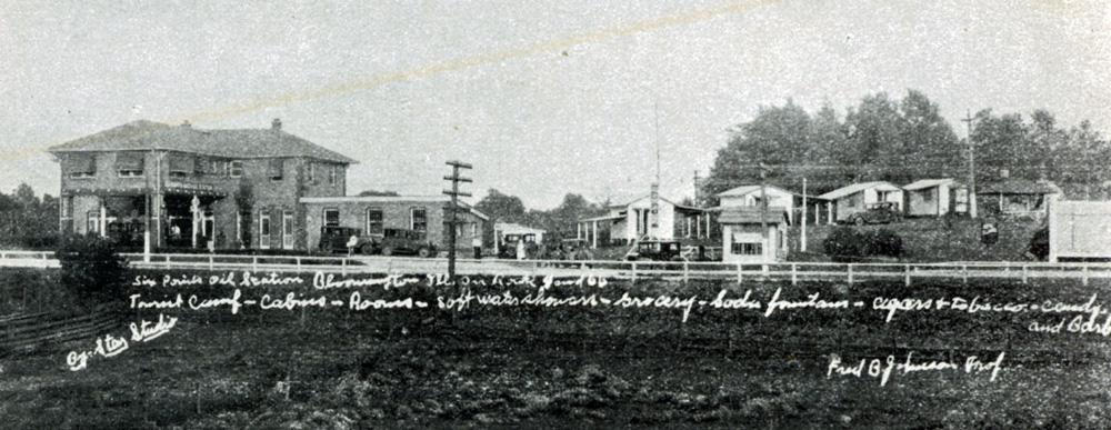Cabin Town c.1925. It was located south of Forest Park. It was torn down when Rt. 66 was enlarged to four lanes.