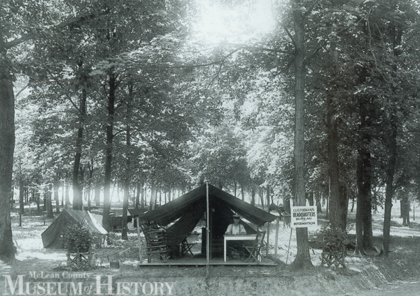 Forest Park tourist camp, C. 1926. Thousands of people usd this camp every summer from the mid-1920s up to the 1940s.